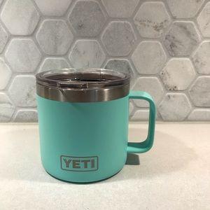 Yeti 14oz rambler mug with standard lid